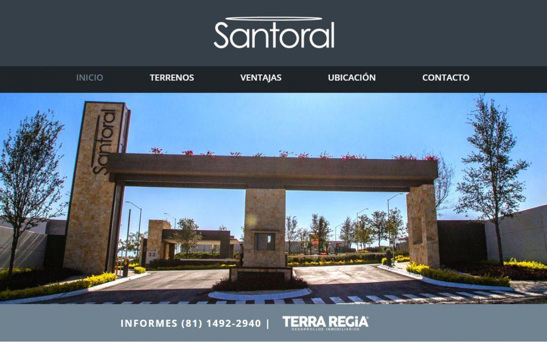 SANTORAL Diseño Web para Fraccionamientos